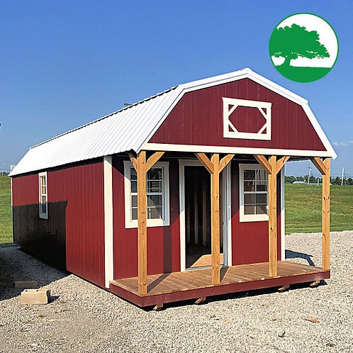 """12' x 32' Painted """"Lofted Cabin"""""""