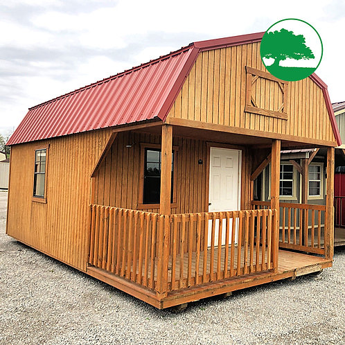 """PRE-OWNED 12' x 20' Treated """"Lofted Cabin"""""""