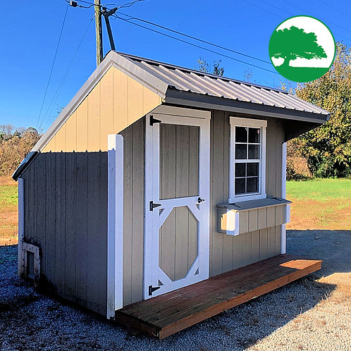 """PRE-OWNED 8' x 12' Painted """"Chicken Coop"""""""