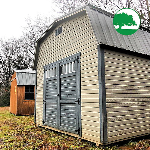 """PRE-OWNED 12' x 24' Painted """"Lofted Barn"""""""