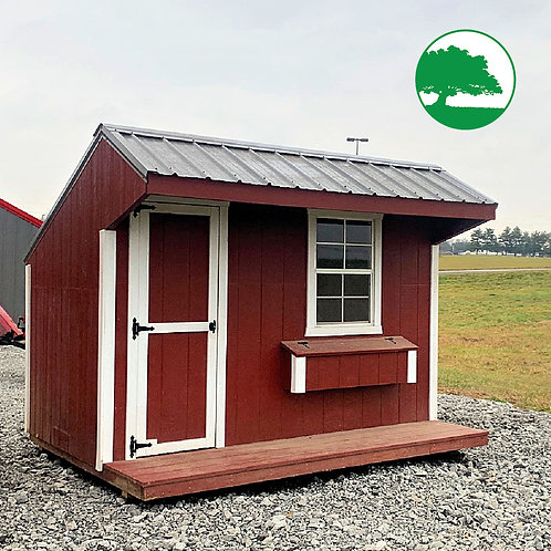 "PRE-OWNED 8' x 10' Painted ""Chicken Coop"""