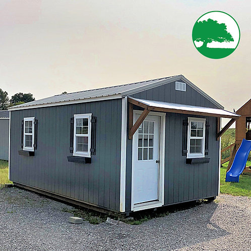 "PRE-OWNED 12' x 20' Painted ""Life Shed"""