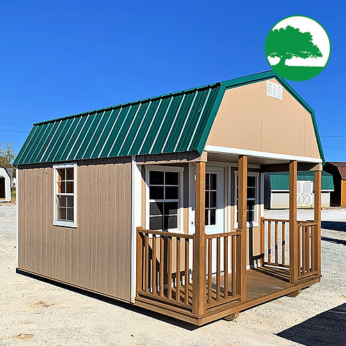 """PRE-OWNED 10' x 16' Painted """"Lofted Cabin"""""""