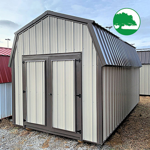 """*SOLD* PRE-OWNED 9' x 18' Metal """"Lofted Barn"""""""
