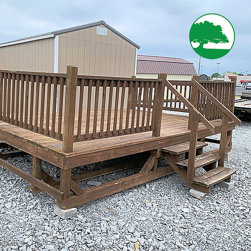 """*SOLD* PRE-OWNED 10' x 16' Treated """"Sunset Deck"""""""