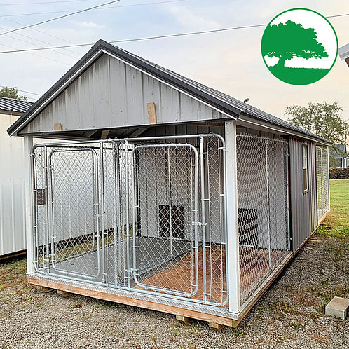 """PRE-OWNED 10' x 28' Metal """"Dog Kennel"""""""