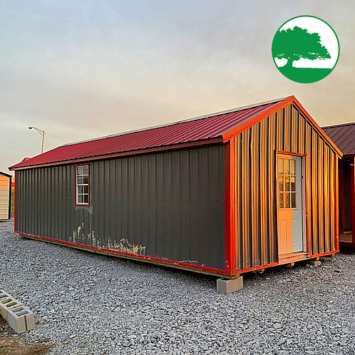 """PRE-OWNED 12' x 30' Metal """"Deluxe Cottage"""""""