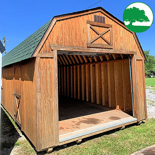 """*SOLD* PRE-OWNED 12' x 32' Treated """"Lofted Garage"""""""