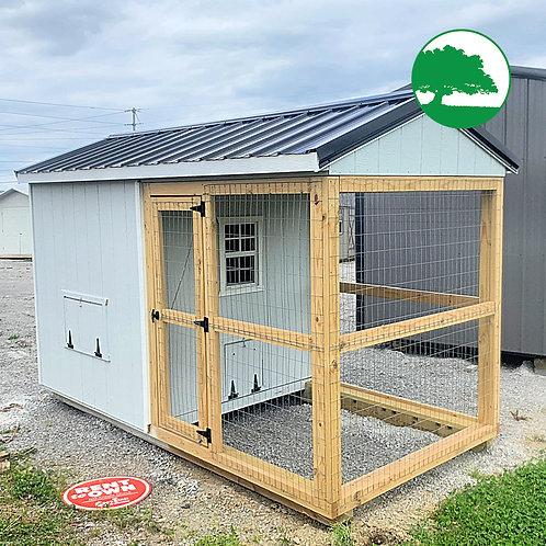 6' x 12' Chicken Coop w/ Wire Run