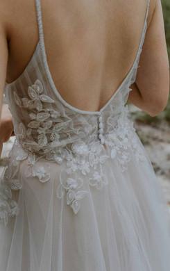 Hochzeitskleid Fulda mit tiefem Rücken