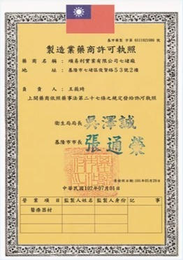 Manufacturing pharmacy license