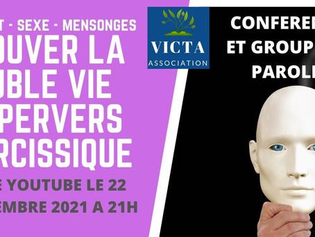 PROUVER LA DOUBLE VIE DU PERVERS NARCISSIQUE : LIVE YOUTUBE LE 22 SEPTEMBRE 2021 A 21H