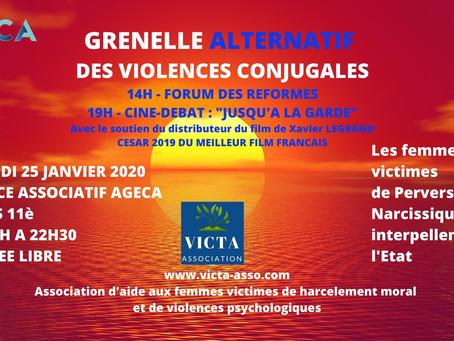 Grenelle ALTERNATIF des violences conjugales : samedi 25 janvier 2020 à Paris