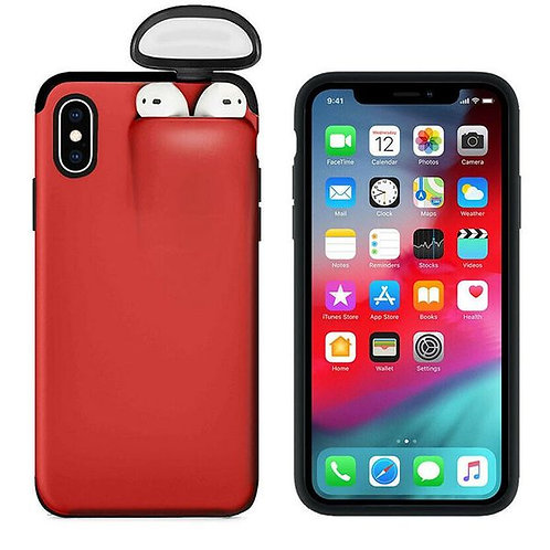 Iphone Case with Airpods Storage