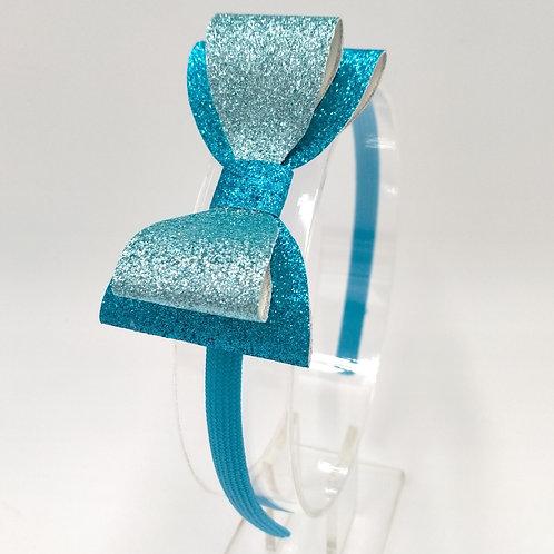 Ellie Glittery Sea breeze Double Bow Headband