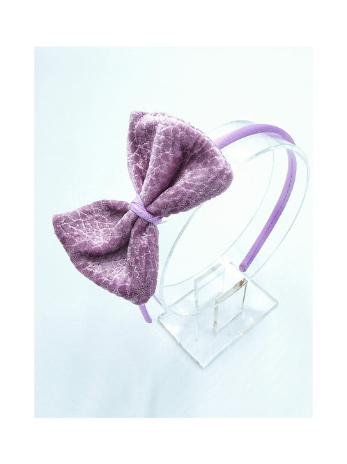 Large Bow Lilac Headband