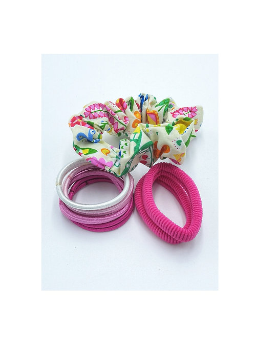 Floral Hair Tie Set