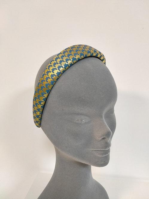 Gold & Blue Print Headband