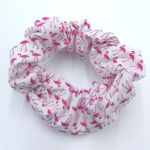 Flamingo Cotton Scrunchie