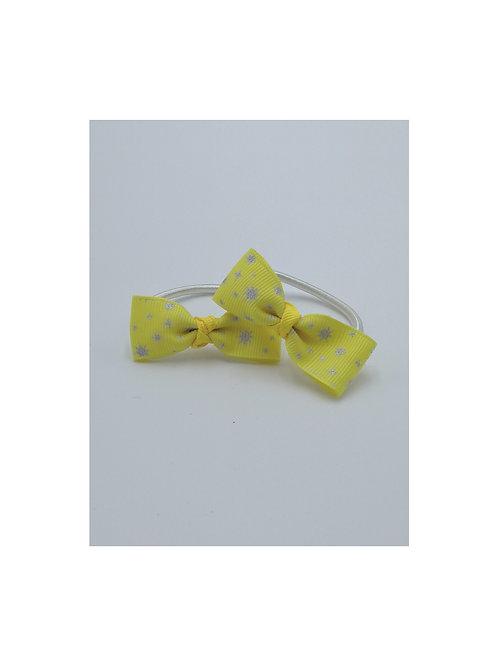 Yellow & silver Hair Ties
