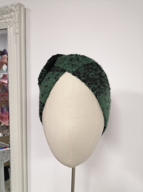 Marbled Green Black Headwrap
