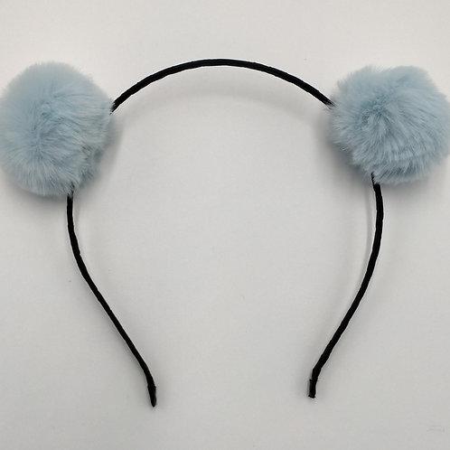 Pom Pom Blue Headband