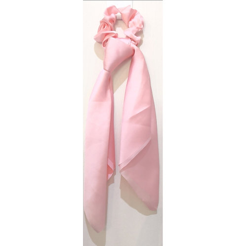 Pink Hair Scarf Satin Scrunchie