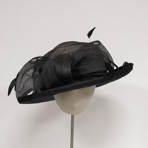 Black Balfour Bow Hat