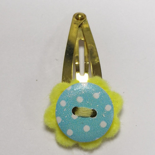 Flowery Button Snap Clip