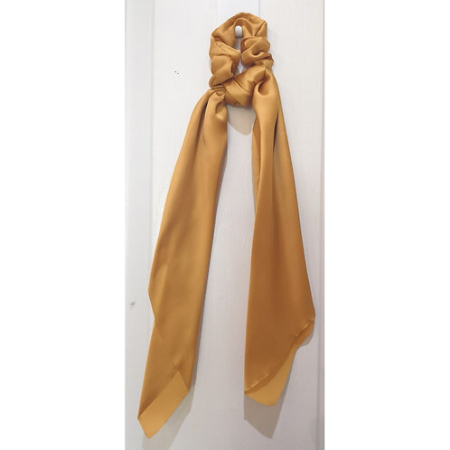 Mustard Hair Scarf Satin Scrunchie