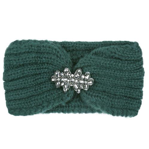 Green Knitted Headband