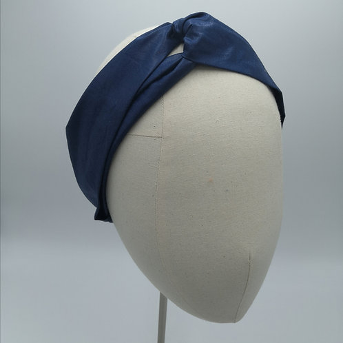 Dark Navy knotted headwrap
