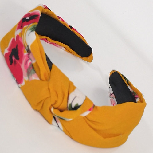 Knotted Saffron Floral Headband