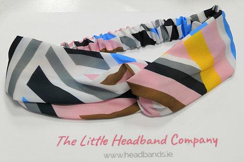 Geo Print Twisted Headwrap