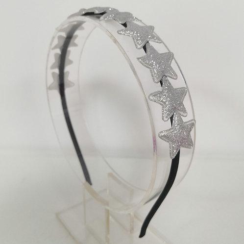 Glitter Sliver Stars Headband