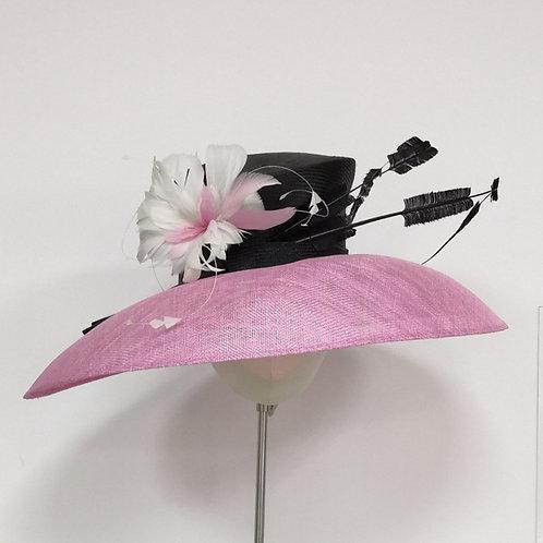 Pink Brim Black Crown
