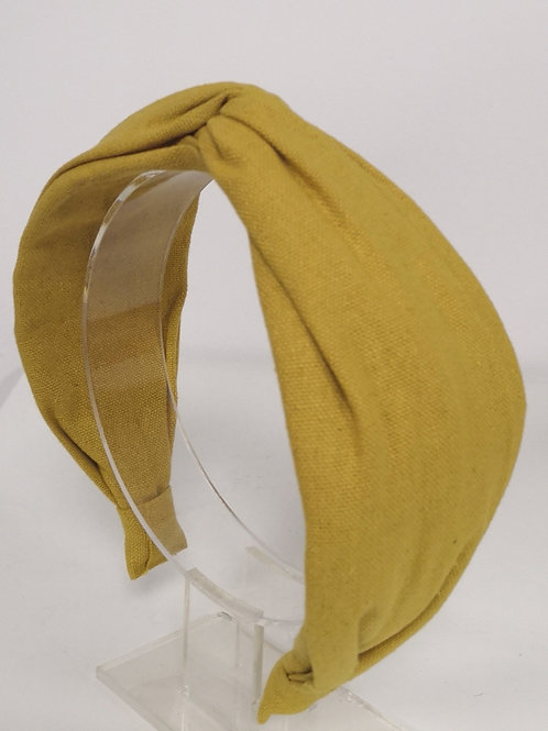 Knotted Golden Yellow Cotton Headband