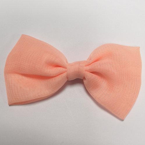 Large Peach Bow Clip