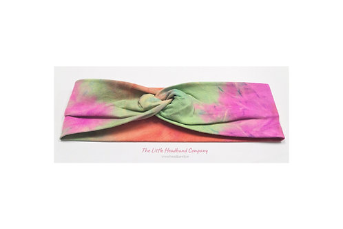 Tie Dye Knotted Cotton Headwrap