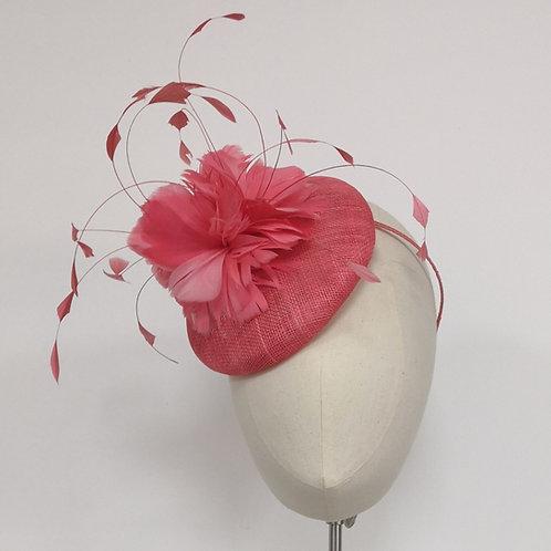 Coral Button Headpiece