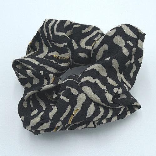 Grey Tiger Stripes Scrunchie