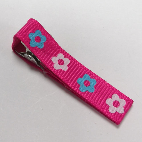 Flowery Pink Clip