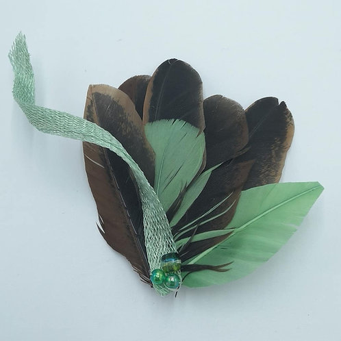 Feather Pin Brooch