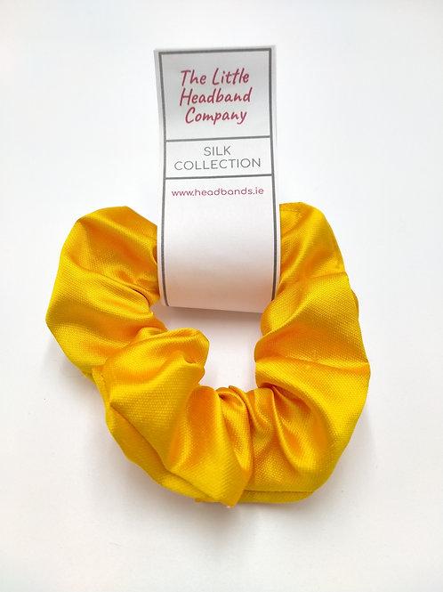 Lemon Gold 100% Mulberry Silk Scrunchie