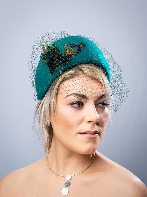 Halo Green Felt Crown Birdcage