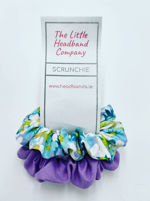 Daisy Multi & Lilac Scrunchie Duo