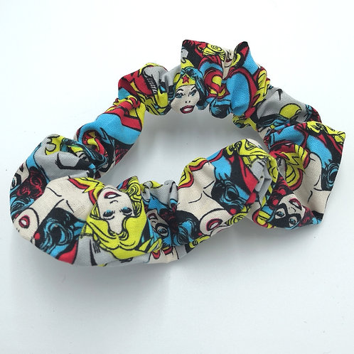 DC Heroines Super Woman Wonder Woman Bat Girl Scrunchie