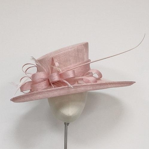 Pink Large Brim Hat