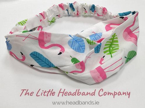 Headwraps Flamingon White
