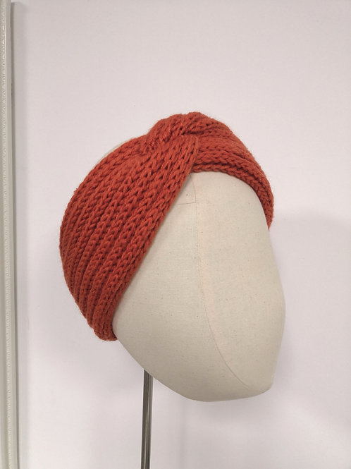 Burnt Orange Twisted Knot Headwrap